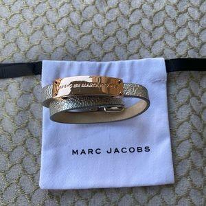 Double Wrap Genuine Leather ID Bracelet